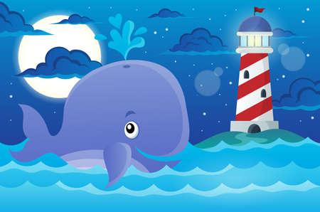 granola: Imagen del tema de la ballena Vectores