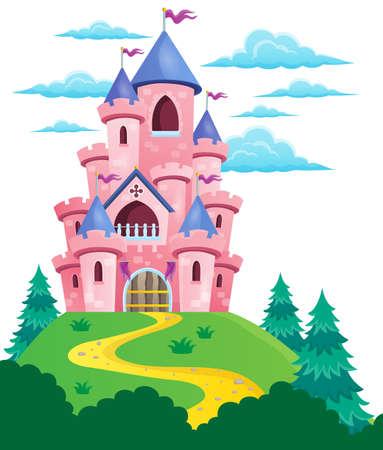 Het roze kasteel thema