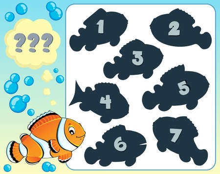 anemonefish: Fish riddle theme image 8 - eps10 vector illustration. Illustration