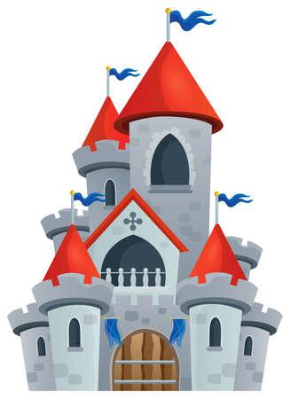 Het kasteel thema sprookje Stock Illustratie