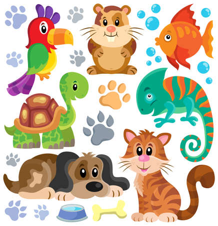 Pets theme collection Stok Fotoğraf - 41377230