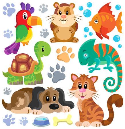 Tema colección Mascotas Foto de archivo - 41377230