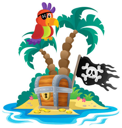 hideout: Small pirate island theme 1 - eps10 vector illustration.