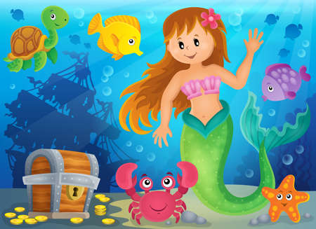 mermaid: Mermaid theme image 3 - eps10 vector illustration.