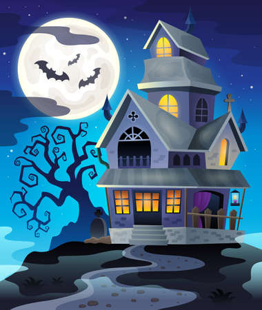 haunted: Image with haunted house thematics 3 - eps10 vector illustration.