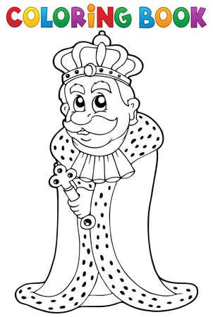 scepter: Coloring book king theme 1 - eps10 vector illustration. Illustration