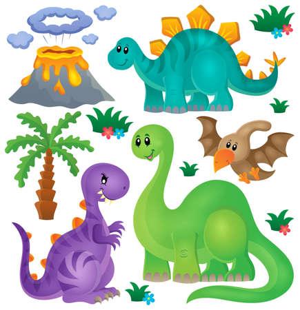prehistorical: Dinosaur theme set 1 - eps10 vector illustration.