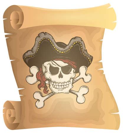Pirate Scroll-theme image 3 - eps10 Vektor-Illustration. Vektorgrafik