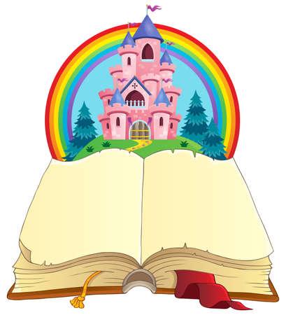 Fairy tale book theme image 3 - eps10 vector illustration.