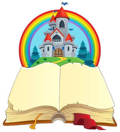 Fairy tale book theme image 2 - eps10 vector illustration. Illustration