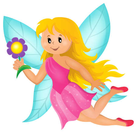 fairy vector: Happy fairy theme image 1 - eps10 vector illustration.