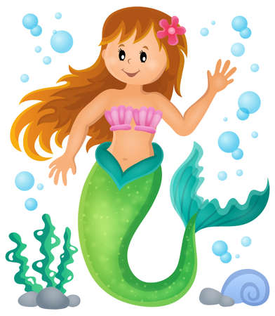 mermaid: Mermaid theme image 1 - eps10 vector illustration.