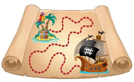 Pirate scroll theme image 1 - eps10 vector illustration. Illustration
