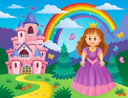 princesa: Imagen del tema de la princesa 2 - ilustración vectorial eps10.