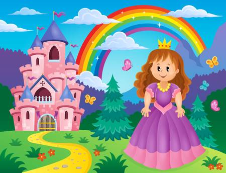 princess castle: Princess theme image 2 - eps10 vector illustration.