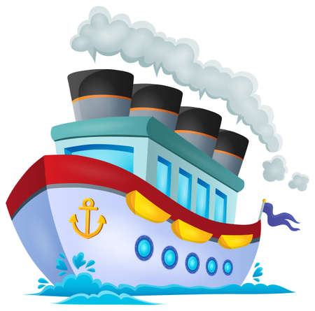 vessel: Nautical ship theme image 1 - eps10 vector illustration.