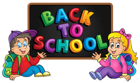 thematic: Back to school thematic image 8 - vector illustration.