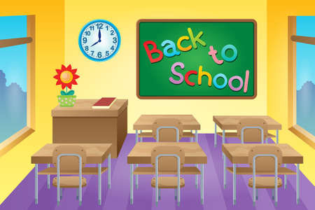 educative: Classroom theme image 2 - vector illustration. Illustration