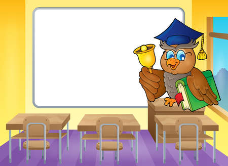 educative: Owl teacher theme image 4 - vector illustration.