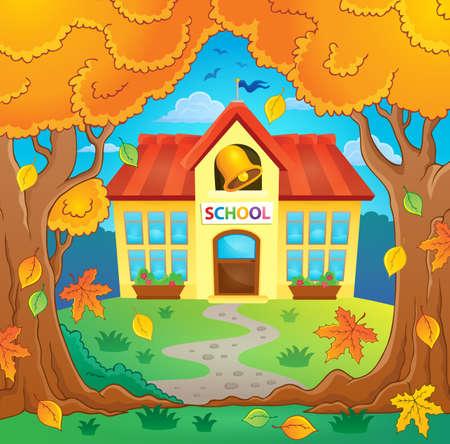 educative: School building theme image 4 -  vector illustration. Illustration