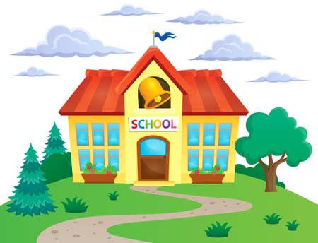 educative: School building theme image 2 -  vector illustration. Illustration