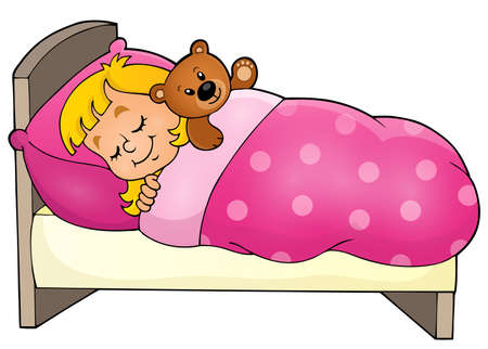 niño durmiendo: Imagen del tema Niño durmiente Vectores