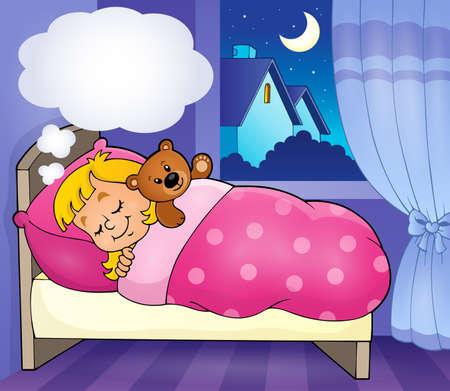 enfant qui dort: Image thème enfant Sleeping