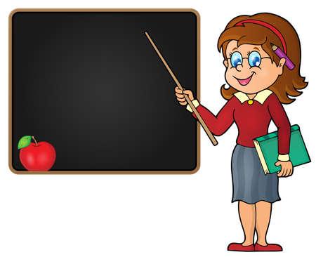 Woman teacher theme image