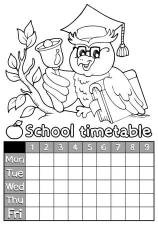 cronograma: Libro para colorear calendario