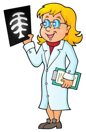 radiography: Doctor theme image 7 - eps10 vector illustration.