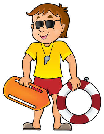 Life guard theme image 1 - eps10 vector illustration. Illustration