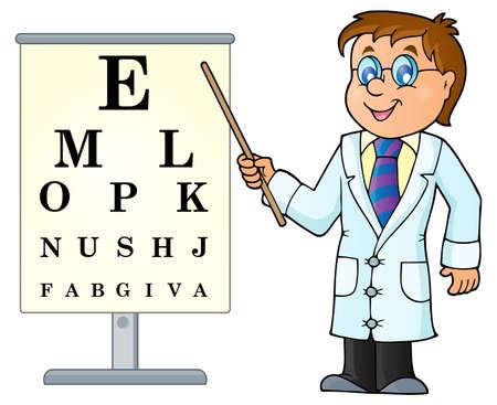 optometrist: Doctor theme image 3 - eps10 vector illustration.