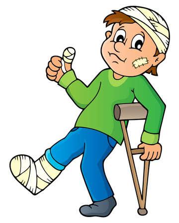 crutch: Patient theme image 1 - eps10 vector illustration.