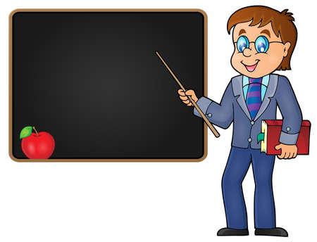 teacher teaching: Man teacher theme image 2 - eps10 vector illustration.