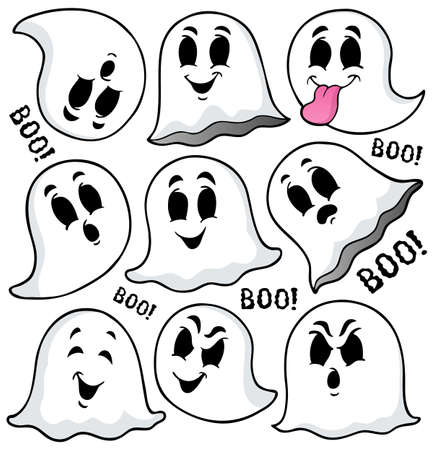 Ghost topic image 7 - eps10 vector illustration. Stock Illustratie