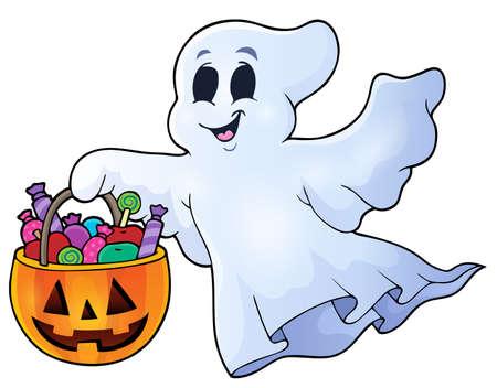 Ghost topic image 8 - eps10 vector illustration. Illustration