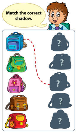 bookbag: Outline game theme image 1 - eps10 vector illustration.