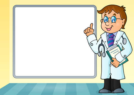 advising: Doctor theme image 6 - eps10 vector illustration.