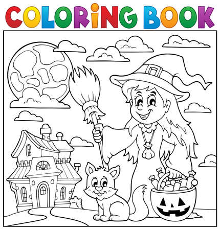 autumn colouring: Coloring book Halloween thematics 1