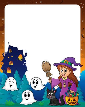 Halloween theme frame 8  Illustration