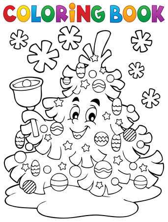 coloring sheet: Coloring sheet of christmas tree  Illustration