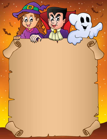 Parchment with Halloween