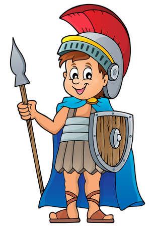 cascos romanos: Soldado romano Vectores