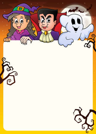 lurk: Frame with Halloween characters