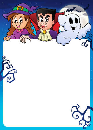 looks: Frame with Halloween characters