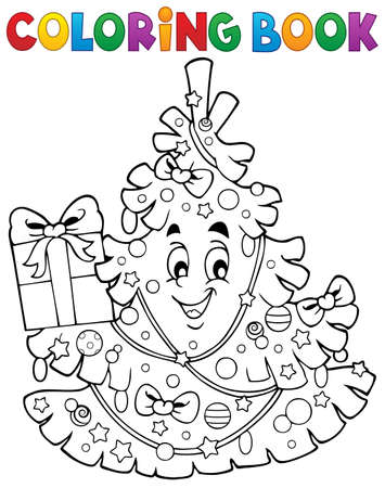 coloring sheet: Coloring sheet of Christmas tree