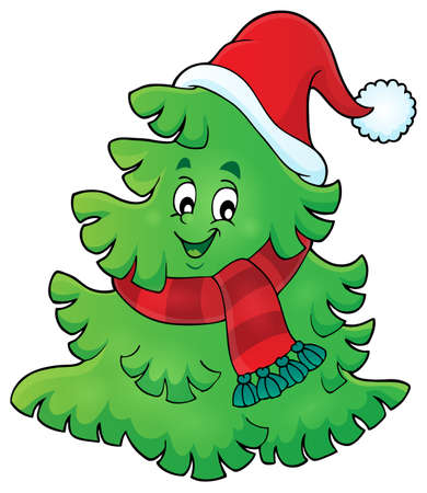 christmas hat: Tree with Christmas hat