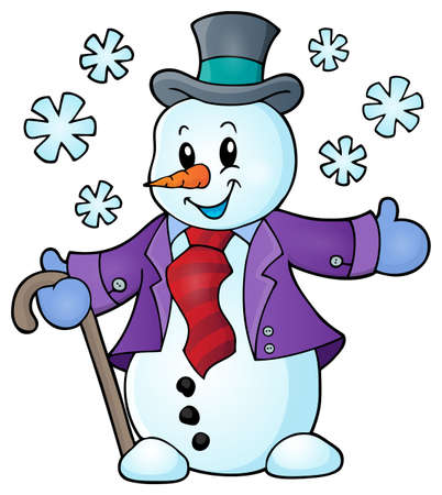 Winter snowman Illustration
