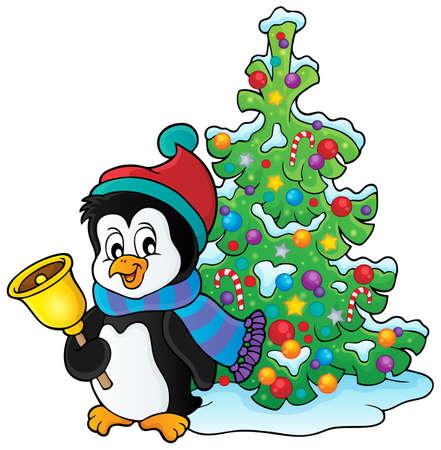 neckscarf: Christmas penguin topic image 3   Illustration