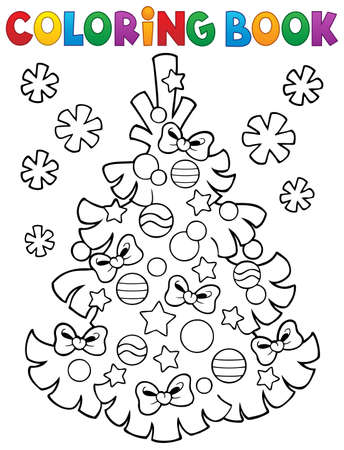 topic: Coloring book Christmas tree topic 3